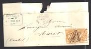 FRANCE  N° 43 Paire (défectueuse) Obl. S/lettre Entiére GC 2565 Moulins S/Allier - 1870 Emisión De Bordeaux