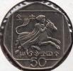 CHYPRE 50 CENTS 1991  ANIMAL - Chypre
