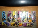 Série De Fèves Skate Board Pendentifs - Cartoons
