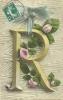 Alphabet - Lettre R, Avec Guirlande De Roses - Autres