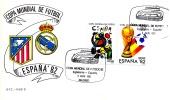 Spanien Fußball WM 1982  ,  Sonder-Briefumschlag , Stempel COPA MUNDIAL DE FUDBOL ESPANA`82 - Ganzsachen