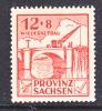 Prov. Sachsen 88 VIII  Variety  ** - Soviet Zone