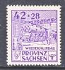 Prov. Sachsen 89 VII  Variety  ** - Soviet Zone