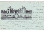 19910 Mennecy Ancien Chateau De Villeroy  Breger Freres. Tampon Convoyeur Montargis Paris; 1902 Bleu - Mennecy