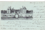 19910 Mennecy Ancien Chateau De Villeroy  Breger Freres. Tampon Convoyeur Montargis Paris; 1902 Bleu