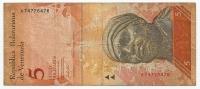 Lotto Di N. 2  Banconote  Del VENEZUELA  Da 5 E Da 10 Bolivares  - Anno 2007. - Venezuela