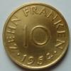 Dix Franken 1954 - Saar