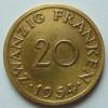 Vingt Franken 1954 - Saar
