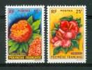 1962 Polinesia Flora Fiori Flowers Blumen Fleurs Serie Completa MNH** Fio84 - Polinesia Francese