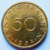 Cinquante  Franken 1954 - Sarre