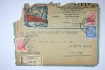 Austria Einschreiben Cover  Salzburg To New York,Misch Frankatur,via Cherbourg With MS New York,nice Cancels,fragile