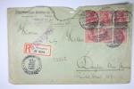 Deutsche Reich Einschreiben Cover 1913 Stuttgart To Dayton Ohio USA, Block 6 X 10 Pf - Briefe U. Dokumente