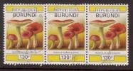 Burundi 1992 Mi Nr 1754 130 F Paddestoelen, Mushroom   Strook Van 3 St. - Burundi