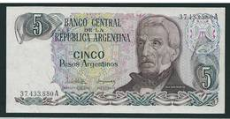 N. 1  Banconota  ARGENTINA  -  Da 5   Pesos -  Anno  1971. - Argentine