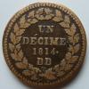 Un Décime 1814 BB Point Après Date Et Décime - France