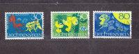 1968      N° 435 à 437   OBLITERES - Liechtenstein