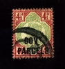 GREAT BRITAIN - 1892 QUEEN VICTORIA  4½ D. OVERPRINTED  GOV.T PARCELS  USED - Servizio