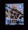 GREAT BRITAIN - 1888 QUEEN VICTORIA  9d. PURPLE & BLUE OVPT  GOV.T PARCELS  USED - Servizio