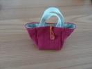 Petit Sac En Tissus (fabrication Artisanal) 10x10cm Environ - Miniatures Décoratives