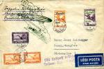Zeppelin  De Budapest Pour Dantzig (Gdangz Pologne) Timbres PA 24 Et 25 Très Rare Superbe Cachet Zeppelin Et Paysage - Poste Aérienne