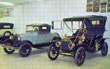 Model T Ford 1909 & A Model Ford 1928 Left, Pettit's Museum, VA, Unused - Passenger Cars