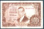 SPAGNA 100 PESETAS 07-04-1953 JULIO ROMERO DE TORRES - [ 3] 1936-1975 : Regime Di Franco