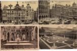 Lot De 4 CPA  - Bruxelles -Grand Place  - Eglise - Jardin - - Belgique