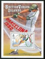 "1992 Britsh Virgin Island ""Barcellona 1992"" Olimpiadi Olympic Games Jeux Olympiques Block MNH** C56 - British Virgin Islands"
