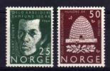 NORVEGE 1964 CENTENAIRE DE La Workers 'Oslo Association 2 V /  NEUF 450/451 RUCHE ABEILLES  FONDATEUR - Abeilles