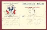 FM - 14/18 -  ARMEES DE LA REPUBLIQUE - CORRESPONDANCE MILITAIRE - Illustration 2 Drapeaux Vive La France - Marcophilie (Lettres)
