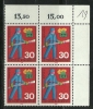 Germany Alemanha Deutschland 1970 Honoring Voluntary Services Fireman Block Of 4 MNH - Unclassified