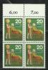Germany Alemanha Deutschland 1970 Honoring Voluntary Services Nurse Block Of 4 MNH - Unclassified