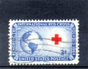 USA134 - STATI UNITI 1952 CROCE ROSSA - Oblitérés