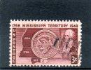 USA159 - STATI UNITI 1948 MISSISIPI - Oblitérés