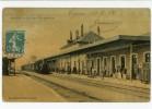 16 - COGNAC - La Gare Vue Intérieure - Colorisée, Train, Trés Animée, état Parfait, Voir Scan - Cognac