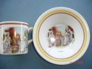 Tasse Et Soucoupe Faience  Anglaise ,de Portland,décor Chinois Appelé Mikado - Céramiques