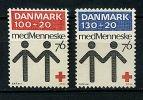 Danemark ** N° 617/618 - Cent. De La Croix-Rouge Danoise - Danemark