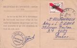20069 Carte De Rappel De La Bibliotheque De Dakar Au Docteur Hellegouarech, Medecin Orana - Sénégal
