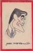 Dessin De Jean MARAIS Vu Par Déro 24x16 Cm Dessin Original / Carton . Acteur Cinema Cocteau (voir Aussi Celui Par Garry)