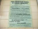 Affiche 60x80- Parti Republicain Radical Et Radical Socialiste--elections  Du  22  4 1928 Autographe A Identifier - Posters