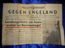 Gegen Engeland - Marine Frontzeitung An Der Kanalküste - Zeitschriften: Abonnement