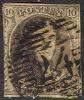 Belgium  10, Used, No WM , (bel010-10, 10- I - 1858-1862 Medallions (9/12)