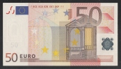 EURO - ITALIA  - 2002 - BANCONOTA DA 50 EURO SERIE S (J070G2) - NON CIRCOLATA (FDS-UNC) - OTTIME CONDIZIONI. - EURO