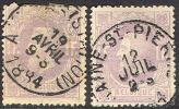 Belgium  36 & 36a. Used,  No WM , (bel036-6, 10- Cg - 1869-1883 Leopold II