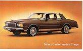 Chevrolet Monte Carlo Landau Coupe, Litho Unused - Passenger Cars