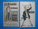 Publicités 1908 LE MIGNON Vin Tonique - Marseillan - Hérault - Publicités