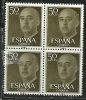 Spain Espana Espanha 1954 1955 1956  General Franco Block Of 4 MNH - Celebrità