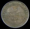TOSCANA - GOVERNO Della TOSCANA - VITTORIO EMANUELE II - 5 CENTESIMI (1859) RE ELETTO - Temporary Coins