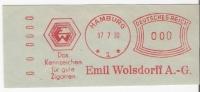 Wolsdorff Gute Zigarren Glasklarer Komusina Freistempel Hamburg 1930 Müsterabschlag - Tabak