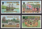 SOLOMON ISLANDS // 1988  Bateau, Drapeau 10 Ann Independence // NEUFS ***  (MNH) - Solomon Islands (1978-...)